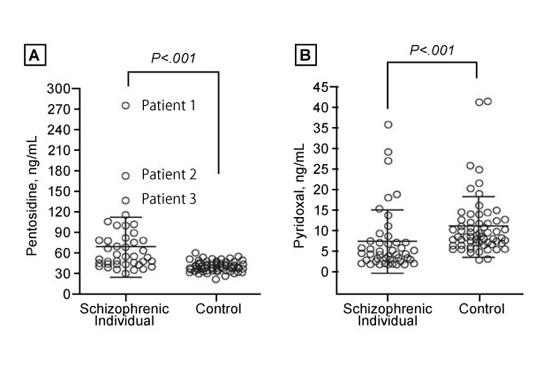 血漿中ペントシジンと血清中ピリドキサール(ビタミンB6)量